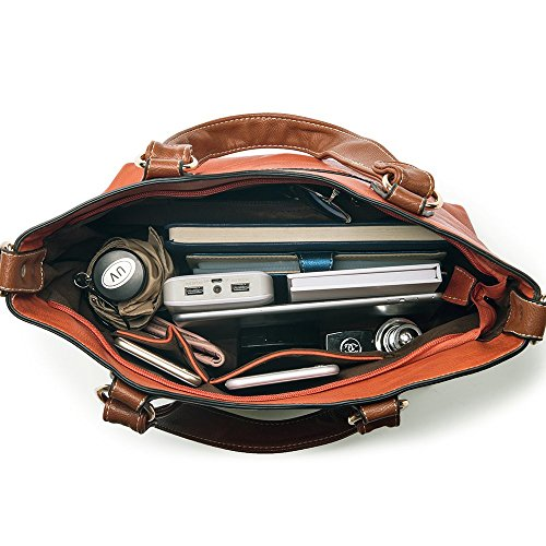 UTAKE Handbags for Women Top Handle Shoulder Bags PU Leather Tote Purse Meduim Size Orange by UTAKE (Image #4)