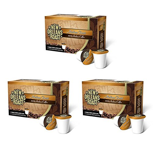 New Orleans Roast Coffee & Tea Roast Single Cups, Medium, 12 Countc, Pack Of - New Orleans Coffee Roasted