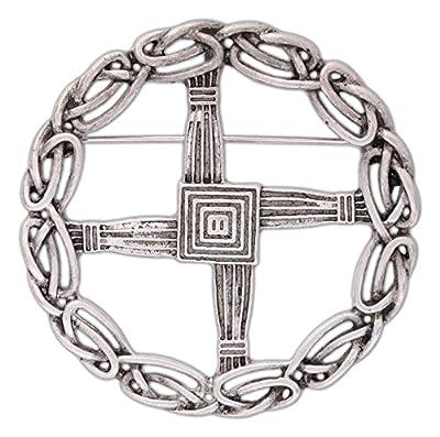 Pewter St. Bridget's Cross Pin/Pendant