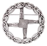 Pewter St. Bridget's Cross Pin/Pendant