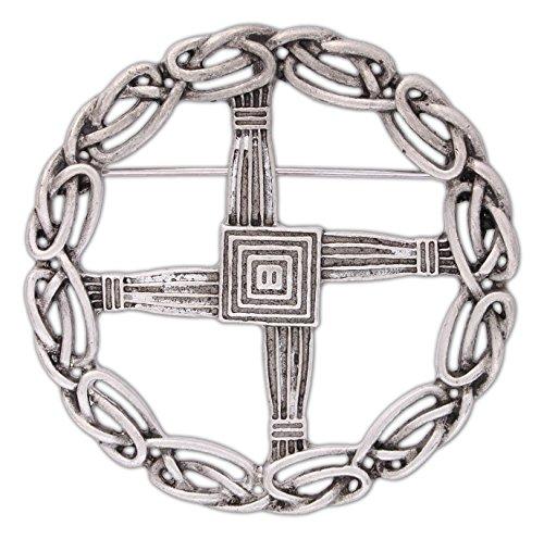 Pewter St. Bridget's Cross Pin/Pendant ()