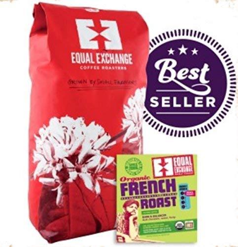Equal Exchange Organic Coffee French Roast Bulk Whole Bean Blends 5 lb.