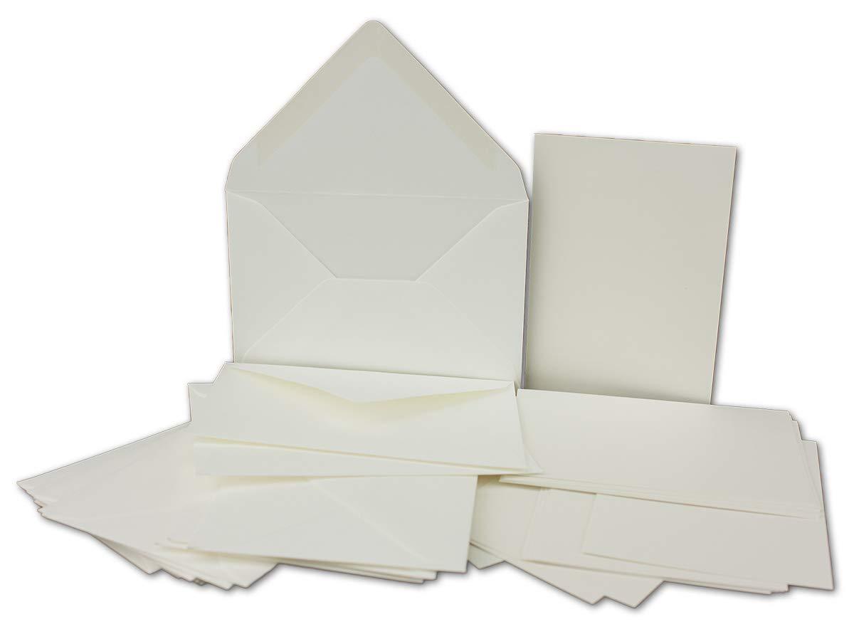 200x Stück Karte-Umschlag-Set Einzel-Karten Din A7 10,5x7,3 cm 240 g g g m² Dunkelgrün mit Brief-Umschlägen C7 Nassklebung ideale Geschenkanhänger B07NZNLNQY Grukarten Neuer Markt 301096