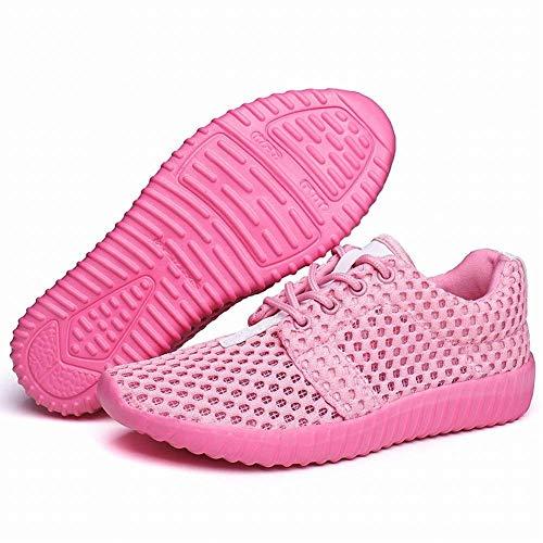 Plein Pure Violet Chaussures En 35 Mesh Loisirs Oudan Ont Respirantes Blanc Augmenté Shoes Air coloré Mode Color Femmes Pour De Taille RfqF0RWwI
