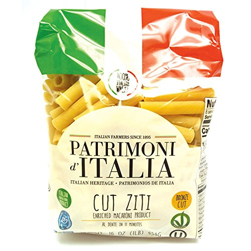 Patrimoni d'Italia Cut Ziti, 1 Pound (Pack of 20) from Patrimoni d'Italia