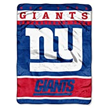 "NFL New York Giants 12th Man Plush Raschel Throw, 60"" x 80"""