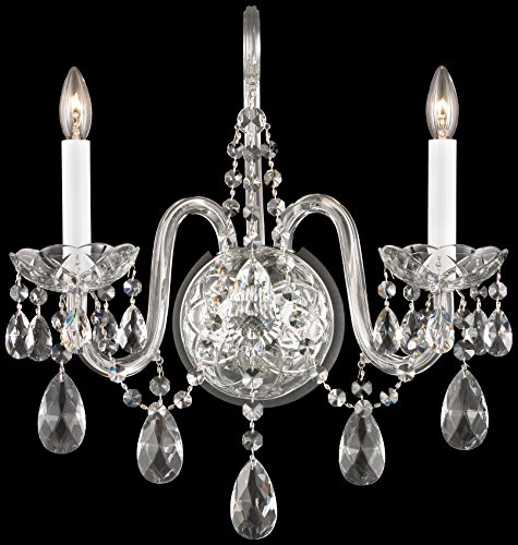 Schonbek 1301-40H Swarovski Lighting Arlington Wall Sconce, Silver