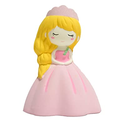 Livoty Adorable Princess Squishy Toy Super Soft Scented Charm Slow Rising Toys Large Decorative Collection Props Squeeze Toys for Stress Relief: Clothing