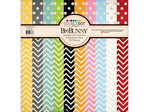 Bo Bunny DD Double Dot Collection Pack Chevron -