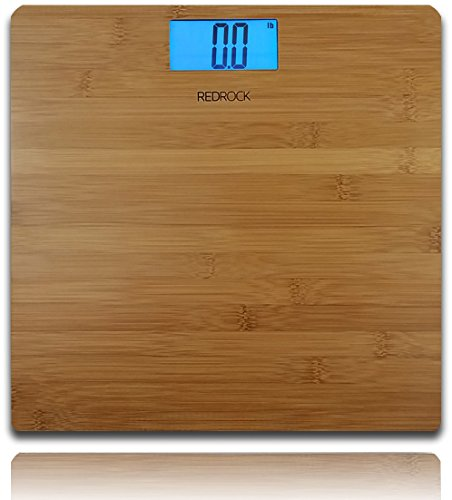 Modern Bamboo Weighing Body Scale 2016 Product 400 Pounds Wood Decor for Bath, Kitchen and Living (400 Home Decor)