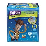 Pull-Ups Night-Time Potty Training Pants for Boys, 2T-3T (18-34 lb.), 50 Ct., Pack of 2 (Packaging May Vary)