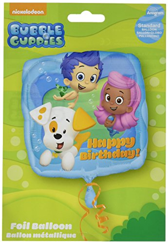Anagram International HX Bubble Guppies Happy Birthday Packaged Party Balloons, -