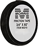 "Morris 60210 Black Friction Tape, 60' Length, 3/4"" Width"