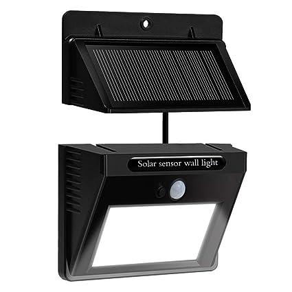 Bovon Separable Foco Solar, Luz Solar 10 LED con Sonsor de Movimiento Lámpara Solar Impermeable