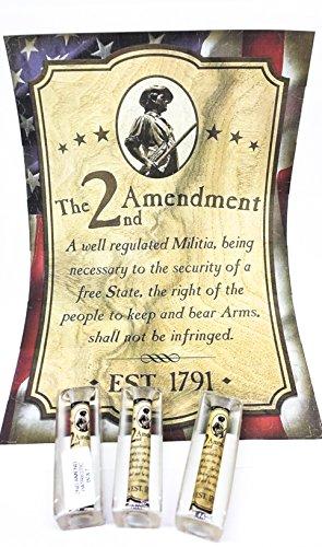 PEN KIT MALL (Patriotic) 2ND AMENDMENT ACRYLIC LABEL PEN BLANK FOR BOLT ACTION