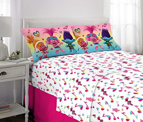 Franco Kids Bedding Super Soft Microfiber Sheet Set, 4 Piece Full Size, Trolls
