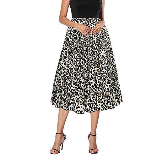 (Yanmei Women's High Elastic Waist Floral Printed Pleated Midi Skirts Small 2269-6-S)