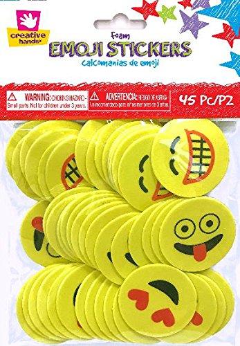 Fibre Craft 1884s Foam Stickers 45/Pkg-Emoji ()