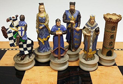 Medieval Times Crusades King Richard the Lionheart Knight Chess Men Set - no Board