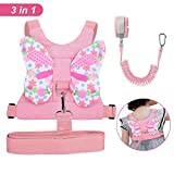 : Accmor 3 in 1 Toddler Harness Safety Leashes + Anti Lost Wrist Link, Kids Harness Children Leash for Girls, Child Anti Lost Leash Baby Cute Safety Harness Belt Strap Hold Kids Close While Walking