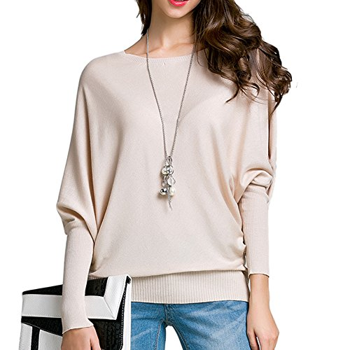 Pullover Sweater Souris Chauve Tricot Femmes Beige Tops Jumper Pull 7qw166tg