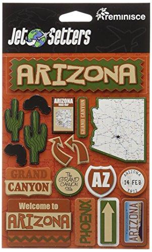 Arizona Epoxy - Reminisce Jet Setters Self-Adhesive Epoxy Embellishments-Arizona
