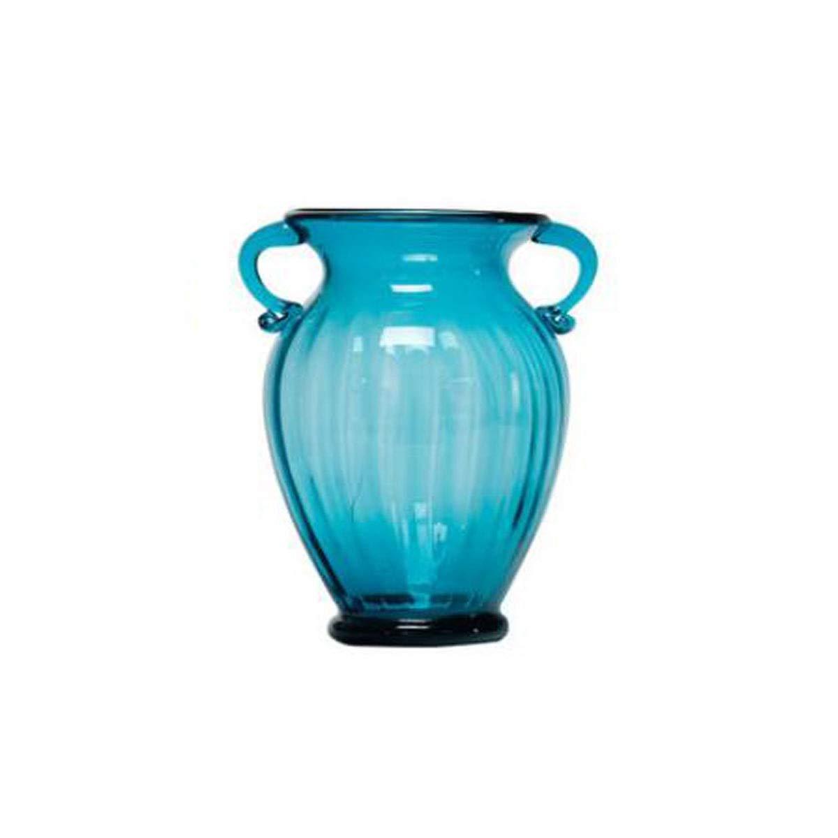 花瓶、両耳ガラスの花瓶、色透明のフラワーアレンジメント、水の文化、ヨーロッパ式のリビングルームのテーブルデコレーション、煙、グレー12インチ (Color : B, Size : 14.6*10.5*30cm) B07S8KM1SG B 14.6*10.5*30cm