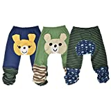 Simplicity set of 3 Toddler boys pants in multicolors, 6 to 36 Mths