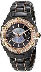 Roberto Bianci Women's b276l_blk Eleganza Ceramic Analog Watch