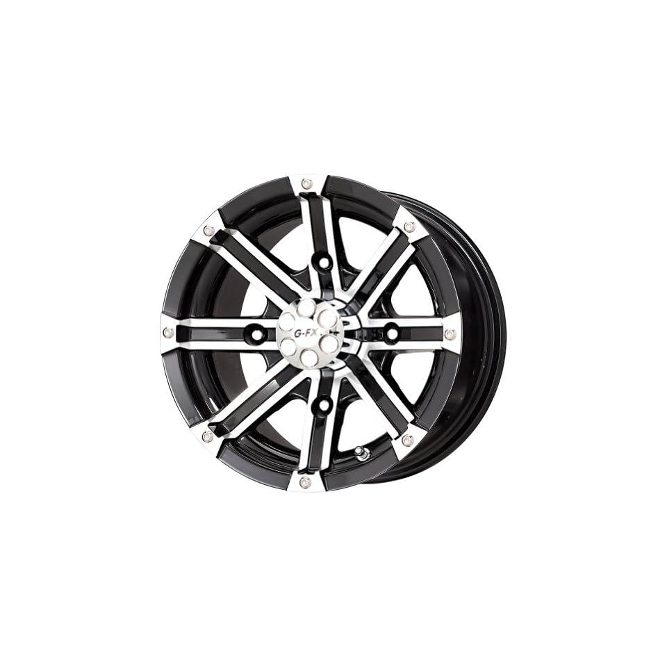 G FX Double Barrel Gloss Black Machined ATV Wheel (12x7/4x156mm)