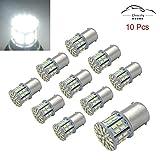 1156 bulb white - Efoxcity 12V 1156 10 Pack Bright 1156 1141 1003 50-SMD White LED Bulbs For Car Interior RV Camper light