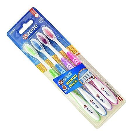 4 piezas Cepillo de dientes suave Cuidado bucal Oral Cepillo de dientes Ecológico Cepillos de dientes con BPA suave Cerdas de nylon sin manija de PP: ...