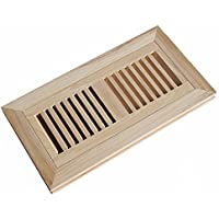 WELLAND? 4 Inch x 12 Inch Hickory Hardwood Vent Floor Register Flush Mount Unfinished by WELLAND