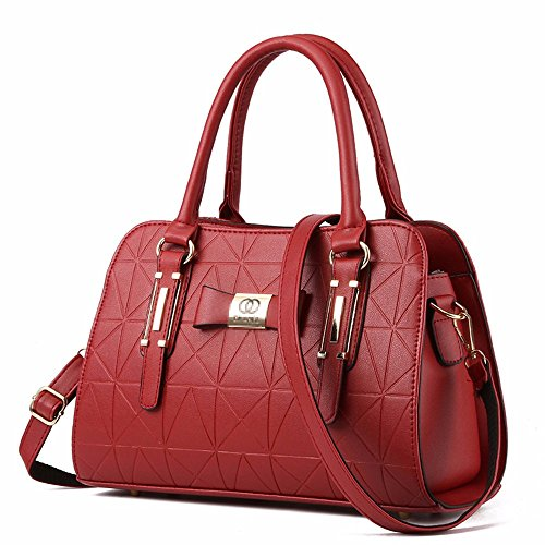 Oxblood BMKWSG para al Hombro Bolso Red Mujer Gules q14SqgBw