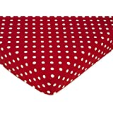 Polka Dot Ladybug Fitted Crib Sheet for Baby and Toddler Bedding Sets by Sweet Jojo Designs - Polka Dot Print