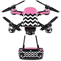 Skin for DJI Spark Mini Drone Combo - Pink Chevron| MightySkins Protective, Durable, and Unique Vinyl Decal wrap cover | Easy To Apply, Remove, and Change Styles | Made in the USA