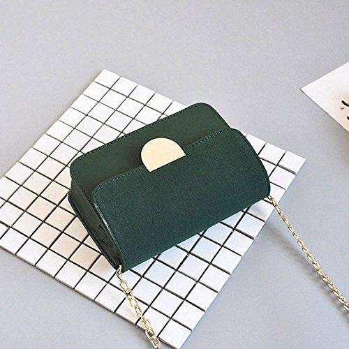 d'épaule Petite à Messenger Femmes bandoulière Vert réglable Satisfr Sac Sac Chaîne Cuir PU Sacs Mini Messenger IPgHPcwaOq