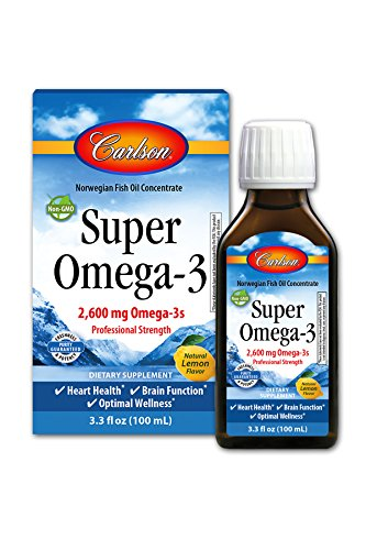 Super Omega-3, 2,600 mg Omega-3s, Professional Strength, Lemon, 100 mL