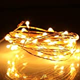 LED String Lights, Abestbox 33ft 100 LEDs String Light with [Remote Control], [IP65 Waterproof] Indoor&Outdoor Starry Dimmable Copper Wire String Ligh