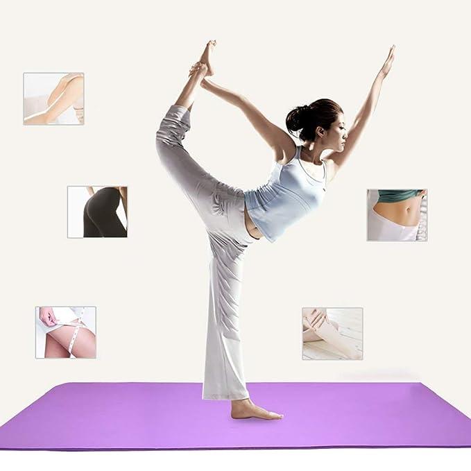 Pilates Mat Yoga Mat 10MM multifunción TPE Antideslizante ...