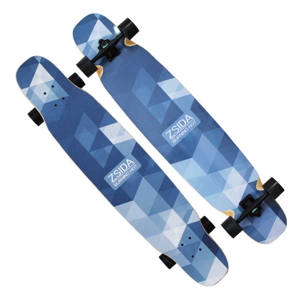 【気質アップ】 大人カエデ118センチ* 25センチロングボード男性と女性プロのスポーツボードブラシストリートスクーターロングボード8層最大積載重量250キログラム blue B07R4TFXTM blue blue blue, 質屋かんてい局:b2e240e4 --- 4x4.lt