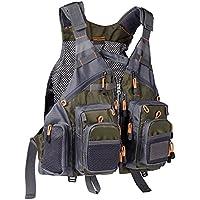 Bassdash Strap Fishing Vest Adjustable for Men and Women,...