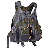 Bassdash Strap Fishing Vest Adjustable for Men and Women, for Fly Bass Fishing