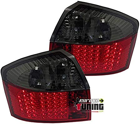 europetuning – 00986 – Luz ARRIERES LEDs rojos negros A4 B6 8E Sedan 2000 – 2004