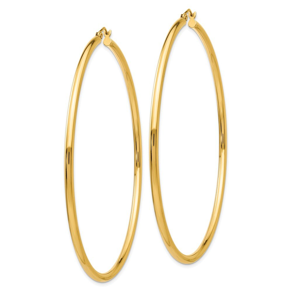 Mia Diamonds 14k Yellow Gold Hoop Earrings