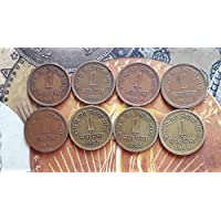 1 PAISA / NAYA PAISA - 8 Coins All Different Year Set - 1957 1958 1959 1960 1961 1962 1963 1964 - CIRCULATED Condition - India - for School Children