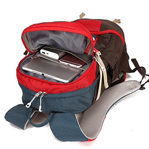 25L Outdoor Sports Rucksack Mountaineering Bag Reitrucksack Rucksack,LightOrange Red