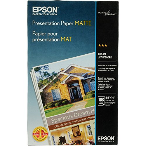 - Epson Presentation Paper MATTE (8.5x14 Inches, 100 Sheets) (S041067)