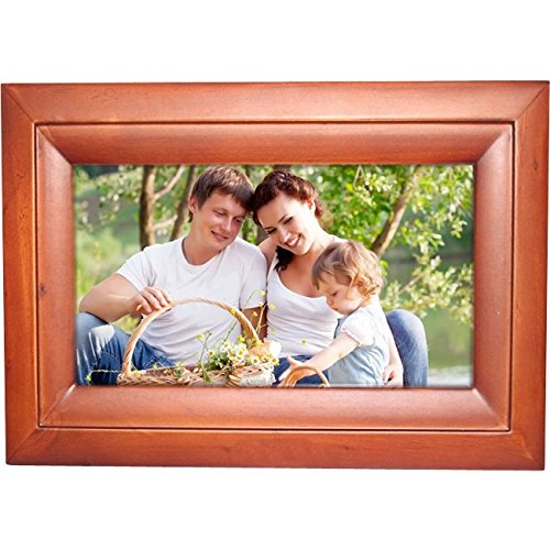 Internet Photo Frame Easyshare 10-Inch Digital Picture Frame with Wireless Capability Elegant Wood Frame by WorryFree Gadgets