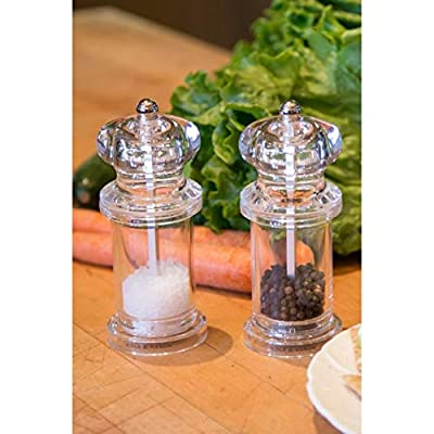 Cole and Mason Plastic 2-Piece 505 Salt and Pepper Mill Set in Clear